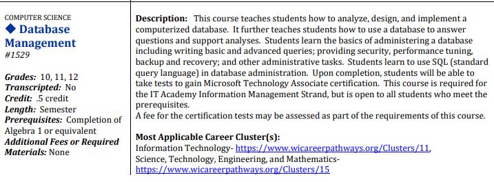 Database Management Course
