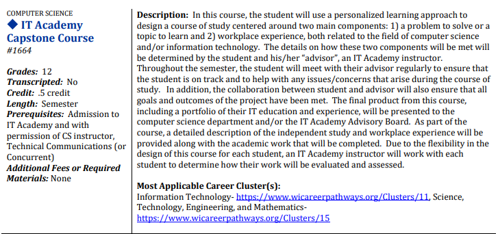 IT Academy Capstone Course