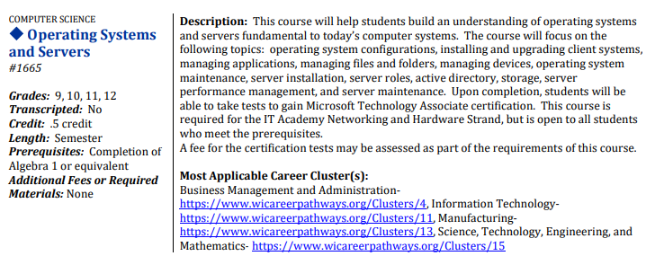Operating Systems and Servers Course